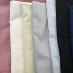 Varasto yksivärisiä oikealta vasemmalle: 1.punaine 2.beige vaalea 3. Beige vihreä 4. Harmaa punertava 5.harmaa 6.musta 7.valkoinen